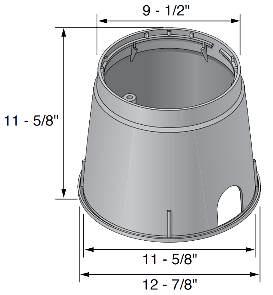 NDS Valve Box Covers-111C 10 inches Round Valve Box Overlapping Cover