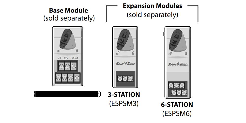 Rain Bird ESPSM6 6-Station Expansion Module for the ESP4ME Irrigation Contr...