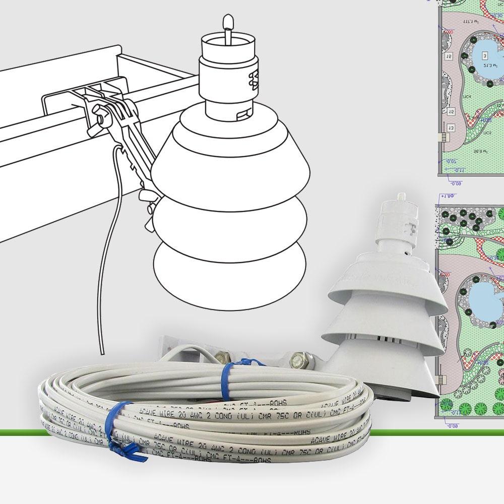 Weathermatic SLW1 Economy Wired On-Site Rain/Freeze Weather Sensor